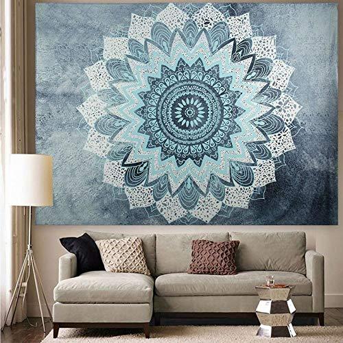 AdoDecor Tapiz de Mandala para Colgar en la Pared, Tapiz Bohemio, Tela de Pared, decoración Boho, Alfombra de Pared, colchón 150x100CM