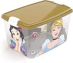 Caixa com Trava Princess Plasútil Dourado 46 L