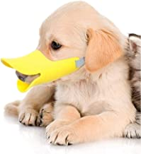 Yu-Xiang Dog Duck Shape Muzzle Adjustable Pet Duckbill Cover Anti-Bite Pet mask Prevent Dogs from Making Noises for Small Medium Dogs