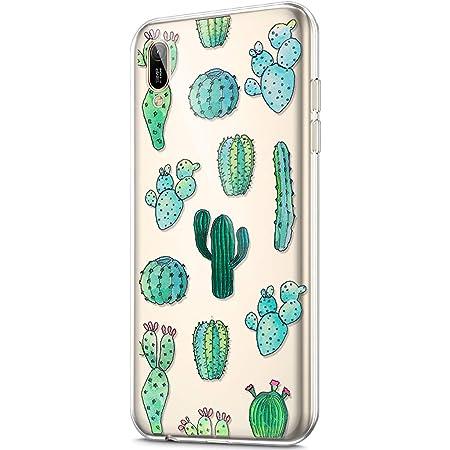 Cover Huawei Y6 2019 Custodia,Disegno del modello dipinto arte Ultra Sottile Morbido Trasparente Silicone Custodie Protettivo Crystal TPU Gel Cover ...
