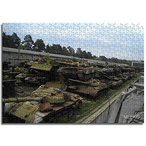 CELLYONE MEEKIS Puzzlespiel für Erwachsene 1000 Teile Verlassener Panzer Lernspiele, Puzzle für Kinder