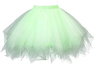 Womens Soild Color Tutu Skirt Layered Tulle Skirt Adult Halloween Costumes