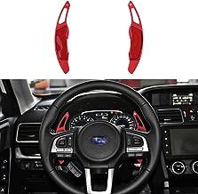 CKE Aluminum Steering Wheel Paddle Shifter Extension For Subaru Forester Outback XV BRZ WRX Impreza Crosstrek Legacy Toyota GT86 - Red
