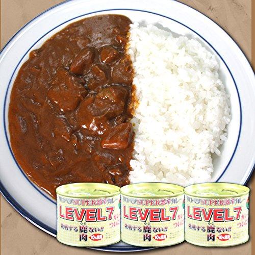 活彩 北海道 サロベツSUPER激辛カレーLEVEL7×3缶セット 蝦夷鹿肉10%使用