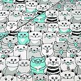 Pingianer 11,99€/m Katze 100% Baumwolle Baumwollstoff
