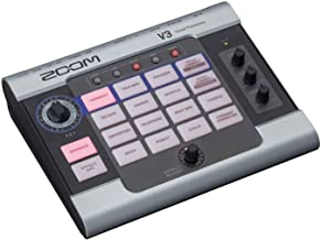 Zoom V3 Vocal Processor, Vocal Effects Pedal, 3-Part Harmony, Pitch Correction, 16 Studio Grade Effects, Battery Powered, ...