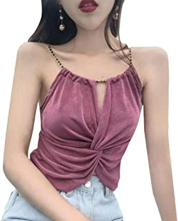 CBTLVSN Womens Summer Halter Fashion Sexy Solid Tank Tops Camisole