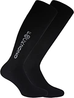 Bianchi Sockmaker in Italy since 1932 - Calze gambaletto con scritta jacquard, Uomo