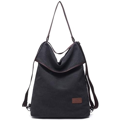 27b0ddb8bd312 Travistar Canvas Tasche Damen Rucksack Handtasche Damen Vintage  Umhängentasche Anti Diebstahl Tasche Hobo Tasche für Alltag