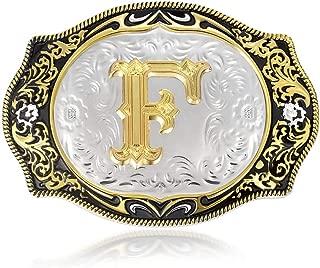 Belt Buckle Initial Letter Belt Buckles Small Size Women Girls Boys Men Western Buckles for Belt (ABC-Z)