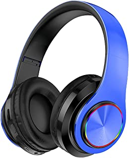 $88 » DRAGONHOO Wireless Bluetooth Headphones with Noise Cancelling Over Ear Stereo Earphones, Colorful LED Light