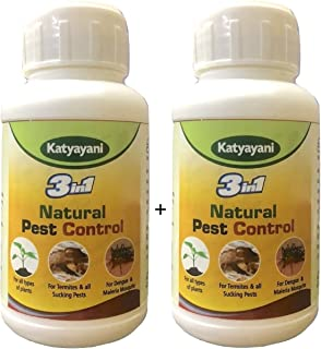 Katyayani 3in1 Organic Pesticide for Plants and Garden + Indoor Home Insecticide Spray Flower Fruit Vegetable Concentrated...
