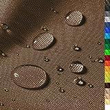 1buy3 'Monaco Wasserdichter Polyester Stoff | 12.000 mm Wassersäule | Farbe 05 | Braun | Polyester Stoff 160cm breit Meterware wasserdicht Outdoor extrem reissfest