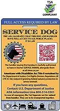 XpressID Service Dog ID Card   Includes Registration to National Dog Registry