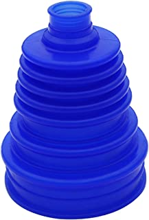 Silicone CV Boot Joint Replacement Cover Constant Velocity Flexible Silicone Rubber 5 inch(125mm) Height Blue