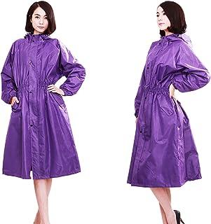 ZEMIN ポンチョ レインウェア レインコート ポンチョ ウインドブレーカー 防水 カバー ファッション 2色 平均コード (色 : Elegant purple, サイズ さいず : M)