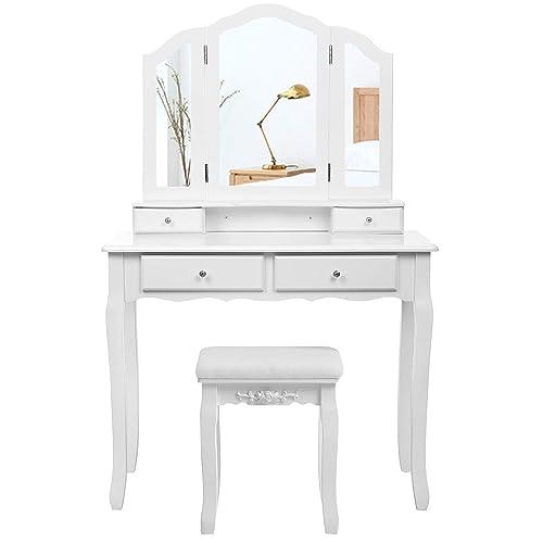 Makeup Desk With Mirror Amazon Co Uk