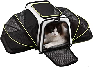 Akinerri Airline Approved Pet Carriers,Soft Sided Collapsible Pet Travel Carrier for Medium Puppy and Cats