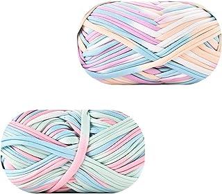 2 Pièces Fil de Crochet En Tricot, Fil Épais à Crocheter Ou à Tricoter, Fil de Laine à Tricoter, Fait Main Cordon En Tissu...