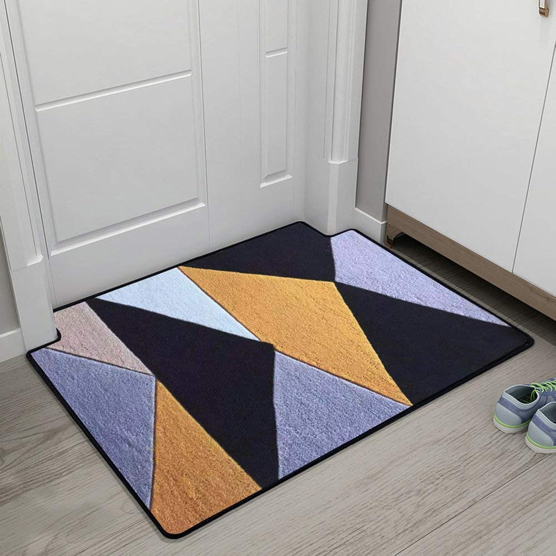 Doormat,Entrance Doormat Floor Mats Carpet Door Mat Geometric Patterned Anti-skidding-colorb 20x31inch