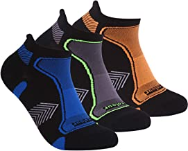 Athletic Ankle Running Socks, Three street DRY COOLER Fabric Moisture Wicking Hiking Socks for Men and Women 1/3 Pairs