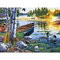 大人のためのジグソーパズル川で泳ぐアヒル教育ゲーム家の装飾大人のためのパズルパズル1000ピース(70 * 50cm)