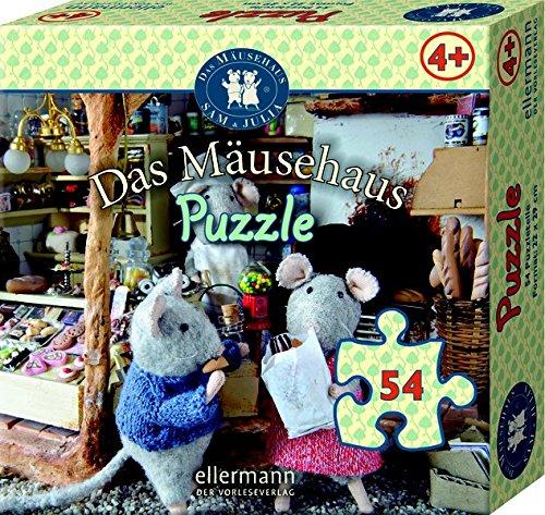 Puzzle Infantil (100 Piezas), diseño de ratón en la Jungla, Color carbón (56313)