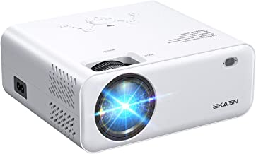"""$119 » Movie Projector, EKASN Creative E450 Portable Projector 1080P Supported Home Theater Outdoor Video Projector with 128"""" Pro..."""