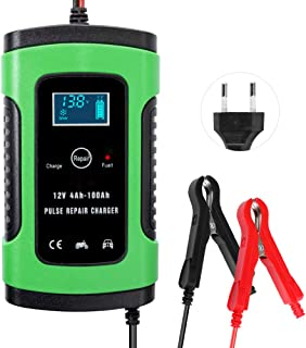 KKmoon 12V 6A Cargador de Batería para Automóvile,