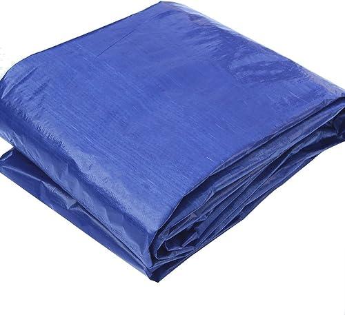 LQQGXL Bache Bleue grise, Tapis de Camping en Plastique tissé d'auvent, Ombre extérieure antipoussière et Coupe-Vent Bache imperméable à l'eau