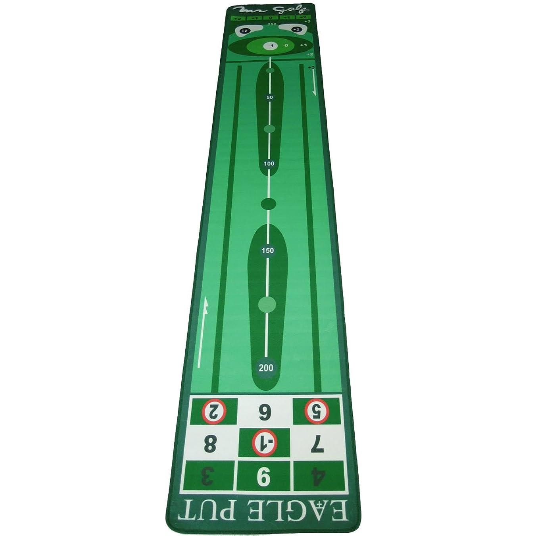暖炉手を差し伸べる危険ミスターゴルフ 高級パターマット イーグル 60×300cm「室内 練習でスコアUP」「ゴルフ練習用品」