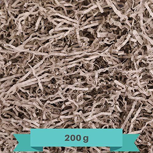 Creative DECO 200g Eco Papel Triturado Kraft | Reemplazo de Lana de Madera | Relleno Material de Embalaje para Cesta, Caja, Paquete, Viene en Embalaje Azul