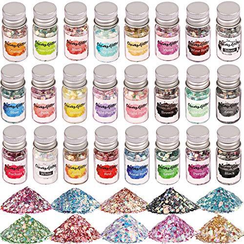 Opal Chunky Glitter, Set of 24, LEO…
