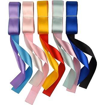 FEPITO 10 Couleurs Ruban Satin 25mm X 4 M, Ruban Couture, Ruban de Satin pour la Décoration de Mariage, Fête et Emballage Cadeau, Gâteau, Bouquet
