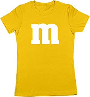 M Chocolate Candy Halloween Costume Outfit Funny Cool Party Womens Shirt (Multiple Colors Available)