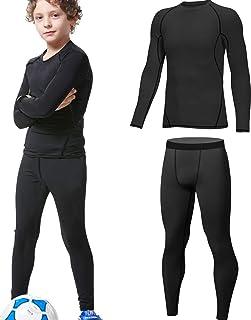 HOPLYNN - Juego de ropa interior térmica para niños, ropa interior funcional, ropa interior de esquí para jóvenes, transpi...