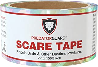 PREDATORGUARD Bird Repellent Scare Tape - Huge 150 Foot roll Longest Lasting and Most Trusted - Scares Birds