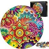 Puzzle Redondo 1000 Piezas,Puzzle,Rompecabezas Redondo,Puzzle Creativo,Puzzle Adultos (Flor 3)