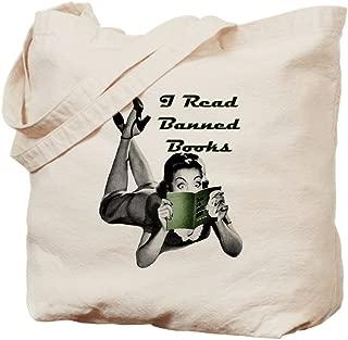 CafePress Banned Books Natural Canvas Tote Bag, Reusable Shopping Bag