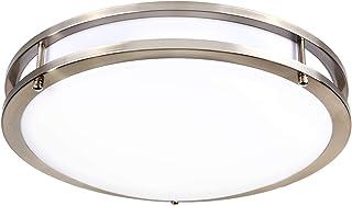 Hykolity 14 Inch LED Ceiling Light, 22W [160W Equivalent] 1650lm 4000K BN Finish Dimmable Saturn Flush Mount Ceiling Light, ETL Listed for Hallway, Bathroom,Kitchen, Bedroom, Restroom, Walk in Closet