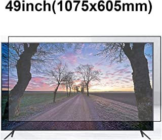 KUYUC Anti Blue Light 49 Inches TV Screen Protector, LED Ultra-Clear Screen Filter, Eye Protection Anti-Glare Filter Film, LCD Anti-Scratch Screen Protector (Color : A)