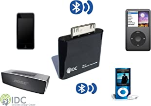 IDC Bluetooth iPod Transmitter. Turn your iPod Bluetooth. Stream Music Wirelessly to your Speaker/earphones. Compatible with iPod Classic, iPod Nano, iPod Touch, Ipod Shuffle, Ipod Mini, Ipod Video.