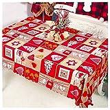 Mantel Mesa de Navidad 150x180cm Cubierta de Mesa Mantel Rectangular para Fiestas Navidad Banquetes Cenas Cumpleaños Barbacoas