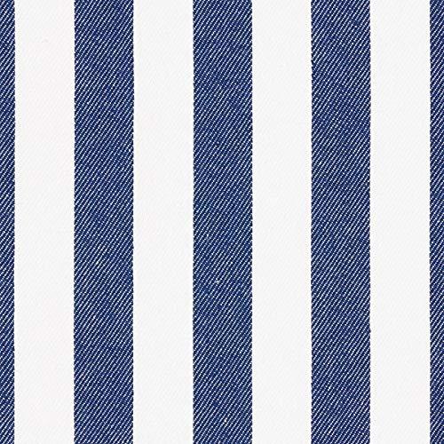 Fabulous Fabrics Jeans Marineblau, Streifen, 150cm breit – Jeans zum Nähen von Hosen, Jacken und Jeans – Meterware erhältlich ab 0,5 m