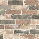 NuWallpaper Newport Reclaimed Brick Peel and Stick Wallpaper