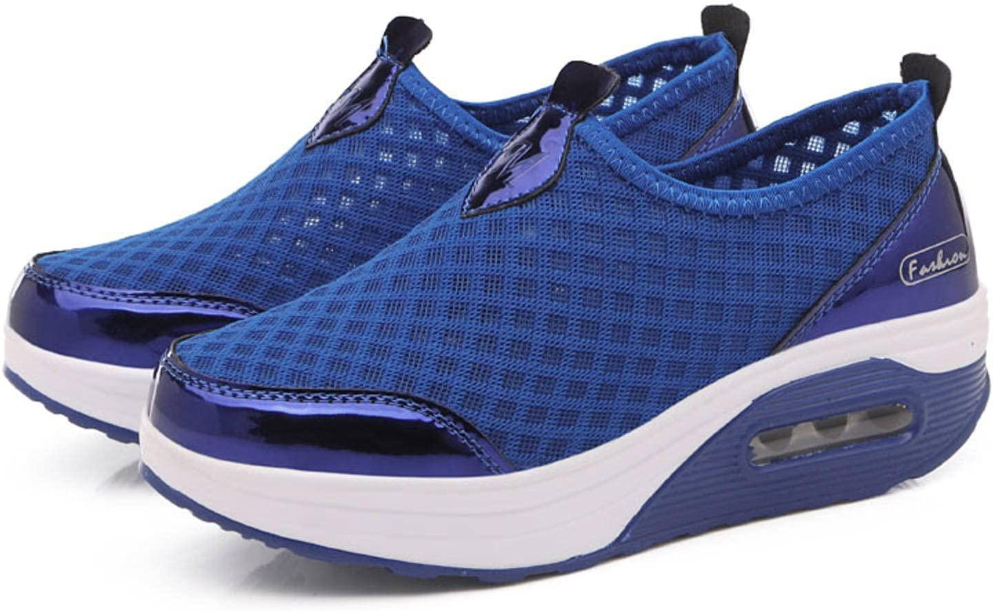 NC Women's Shoes Casual Walking Shoes Fashion Running Breathable Mesh Shoes Shock Absorption Pull-on Sneakers