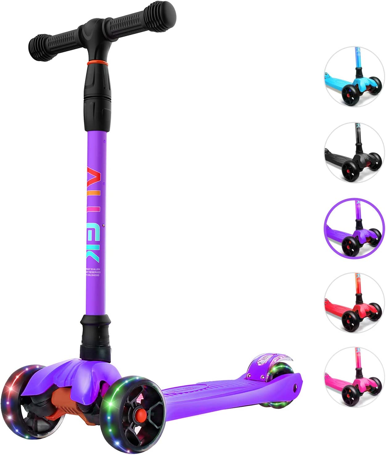 Allek Kick Scooter B02 Direct sale of New Free Shipping manufacturer Lean 'N Glide Extra PU Wide with