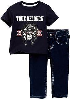 c3e0e0a0b4 True Religion Infant Baby Boy s Buddha Short Sleeve Tee and Denim Set