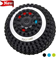 Vibrating Massage Ball - 4-Speed High-Intensity Fitness Yoga Massage Roller, Relieving Muscle Tension Pain & Pressure Massaging Balls, Electric Rechargeable Washable Vibrating Massage Ball (Black)