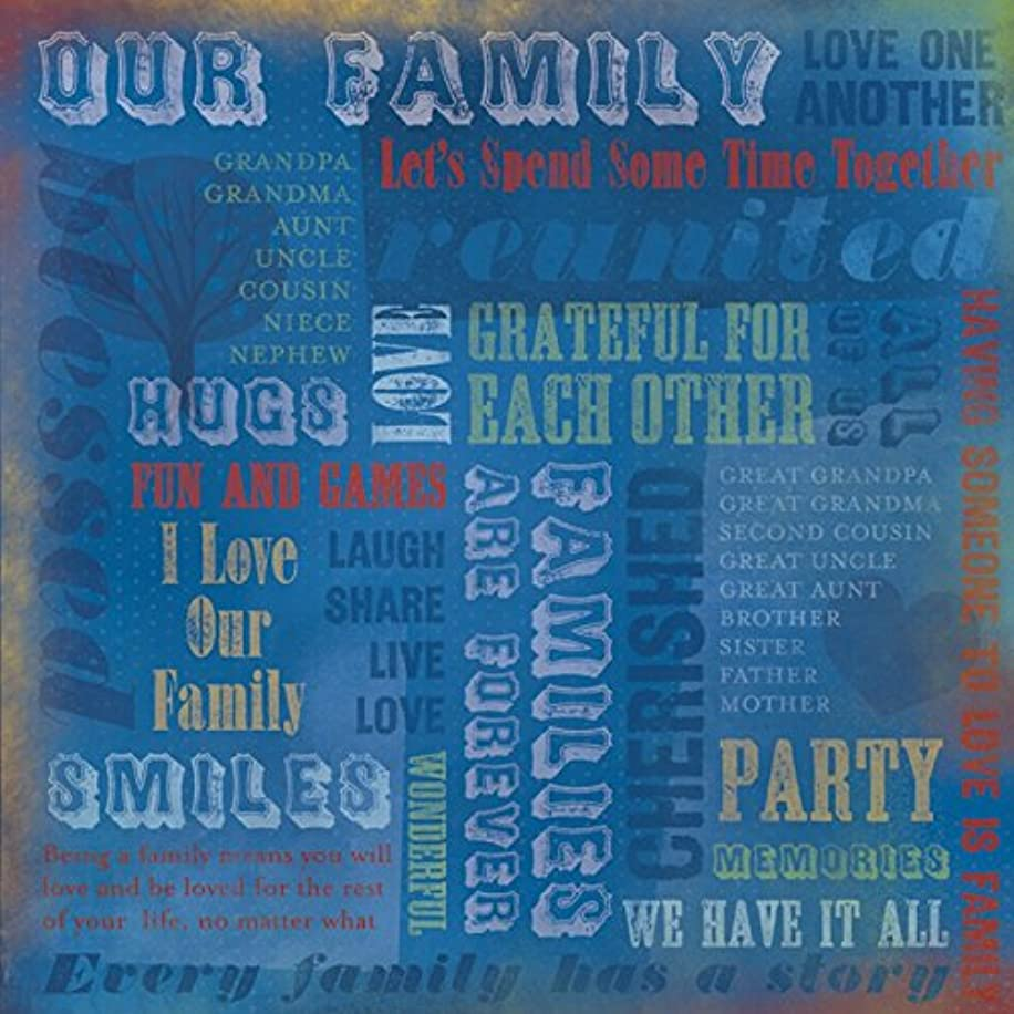 KAREN FOSTER 12 x 12-Inch Scrapbook Paper, 25 Sheets, Our Family Collage, Our